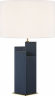 Kelly by Kelly Wearstler KT1182RBBS1 Portman Contemporary Burnished Brass / Royal Blue Table Lighting