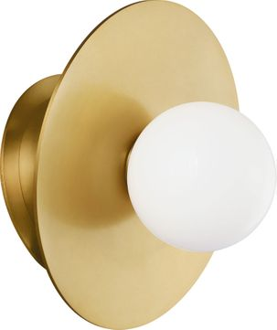 Kelly by Kelly Wearstler KW1041BBS Nodes Contemporary Burnished Brass Lighting Wall Sconce