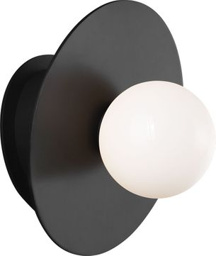 Kelly by Kelly Wearstler KW1041MBK Nodes Contemporary Midnight Black Halogen Sconce Lighting
