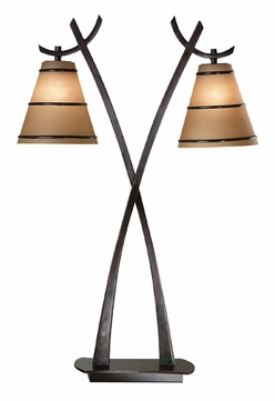 Kenroy Home 03334 Wright 2 Lamp 31 Inch Tall Asian Table Lamp - Oil Rubbed Bronze