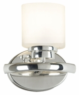 Kenroy Home 03390 Bow 9 Inch Tall Polished Nickel Finish Wall Light Sconce