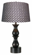 Kenroy Home 10019ORB Rumba 30 Inch Tall Oil Rubbed Bronze Finish Table Top Lamp