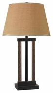 Kenroy Home 10033BBL Whip 29 Inch Tall Bronze Finish Transitional Table Lamp Lighting