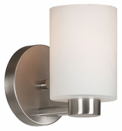 Kenroy Home 10181BS Encounters Brushed Steel 5 Inch Wide Lamp Sconce - Transitional