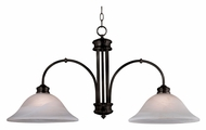 Kenroy Home 10509ORB Winterton Oil Rubbed Bronze Finish 2 Lamp Island Lighting Fixture - 36 Inches Wide