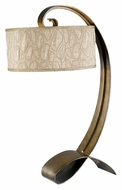 Kenroy Home 20090SMB Remy Modern 31 Inch Tall Curled Smoked Bronze Table Lamp