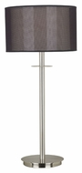 Kenroy Home 20114BS Marlowe Brushed Steel Transitional Style 28 Inch Tall Table Lamp