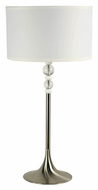Kenroy Home 20118BS Luella Brushed Steel 30 Inch Tall Lighting Table Lamp