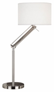 Kenroy Home 20122BS Hydra Brushed Steel Finish Adjustable Arm Table Lamp