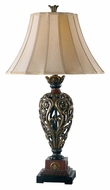 Kenroy Home 20180GR Iron Lace Traditional Style Golden Ruby 33 Inch Tall Living Room Table Lamp