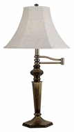 Kenroy Home 20616GBRZ Mackinley 32 Inch Tall Swing Arm Georgetown Bronze Table Lamp