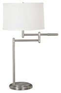 Kenroy Home 20940BS Theta Swing Arm Brushed Steel 30 Inch Tall Table Light