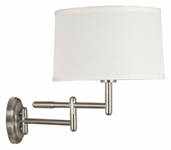 Kenroy Home 20942BS Theta Brushed Steel Swing Arm Wall Lamp - 15 Inches Tall