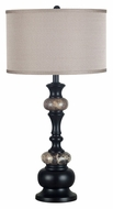 Kenroy Home 21006ORB Hobart Marble Accented 31 Inch Tall Bed Lamp - Oil Rubbed Bronze