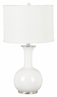 Kenroy Home 21024WH Mimic Gloss White 25 Inch Tall Transitional Table Light