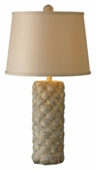 Kenroy Home 21044AW Shell Transitional Antique White Finish 29 Inch Tall Table Top Lamp