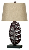 Kenroy Home 21050MB Frond Mottled Bronze 26 Inch Tall Leaf Table Lamp