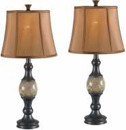 Kenroy Home 21097BRZ Shay Bronze 2 Pack Table Lamp