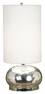 Kenroy Home 21099MG Roxie 28 Inch Tall Mercury Glass Finish Round Table Lamp