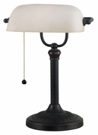 Kenroy Home 21394ORB Amherst Oil Rubbed Bronze 15 Inch Tall Banker Lamp