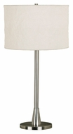 Kenroy Home 21446BS Rush Brushed Steel Finish Transitional Table Top Lamp - 30 Inches Tall