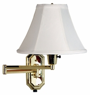 Kenroy Home 30130PB Nathaniel Polished Brass Swing Arm Transitional Wall Lamp