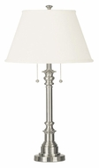 Kenroy Home 30437BS Spyglass Transitional Style Brushed Steel 31 Inch Tall Bed Lamp