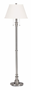 Kenroy Home 30438BS Spyglass Brushed Steel Finish 60 Inch Tall Floor Lamp