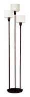Kenroy Home 30673ORB Crush Oil Rubbed Bronze 3 Light 75 Inch Tall Floor Lamp