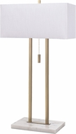 Kenroy Home 30816AB Emilio Contemporary Antique Brass with Marble Table Lighting