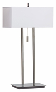 Kenroy Home 30816CH Emilio 2 Light 29 Inch Tall Table Top Lamp - Chrome