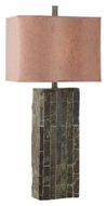 Kenroy Home 30894SL Ripple Natural Slate Table Lamp - 32 Inches Tall
