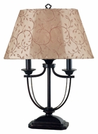Kenroy Home 31365ORB Belmont Transitional Style Oil Rubbed Bronze Table Top Lamp