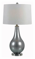 Kenroy Home 32043MP Teardrop Metallic Pewter 29 Inch Tall Contemporary Bed Lamp