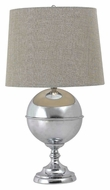 Kenroy Home 32053CH Atlas Chrome Finish 29 Inch Tall Bedroom Table Lamp