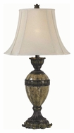 Kenroy Home 32061BZM Baroness 32 Inch Tall Marble Accented Bronze Finish Table Lamp