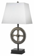 Kenroy Home 32067WS Movement Weathered Steel Finish Gear 30 Inch Tall Table Top Lamp