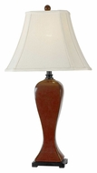 Kenroy Home 32070CRD Onoko Crimson Red Finish 31 Inch Tall Bell Shade Table Lamp