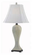 Kenroy Home 32070PWH Onoko Bell Shade Pearlized White Finish Lighting Table Lamp