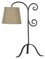 Kenroy Home 32086BRZG Morrison Bronze Graphite 30 Inch Tall Bedroom Table Lamp