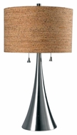 Kenroy Home 32092BS Bulletin Modern Brushed Steel Finish 30 Inch Tall Table Light