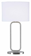Kenroy Home 32108BS Duet Brushed Steel Finish Contemporary 27 Inch Tall Table Lamp