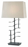 Kenroy Home 32111GRPH Flume Graphite Finish Contemporary Table Top Lamp - 30 Inches Tall
