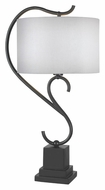 Kenroy Home 32125BRZ Swirl Weathered Steel Finish 31 Inch Tall Table Lamp