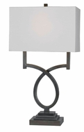 Kenroy Home 32127WS Tau 30 Inch Tall Weathered Steel Finish Transitional Table Lamp
