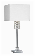 Kenroy Home 32138CH Bedazzle Contemporary Chrome Finish 31 Inch Tall Table Top Lamp