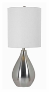 Kenroy Home 32156BS Droplet 29 Inch Tall Brushed Steel Contemporary Living Room Table Lamp