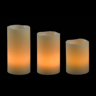 Kenroy Home 32169RCAN Remote Candle Set - Cream Finish