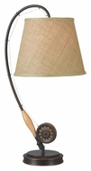 Kenroy Home 32193ORB Fly Rod Oil Rubbed Bronze 27 Inch Tall Bed Lamp