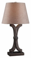 Kenroy Home 32207WC Caliper Weathered Copper Finish 29 Inch Tall Living Room Table Lamp